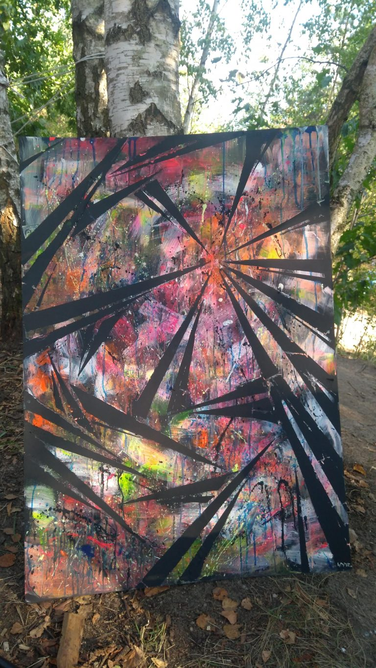 Action Painting Artlake Festival Suzanne Dirne