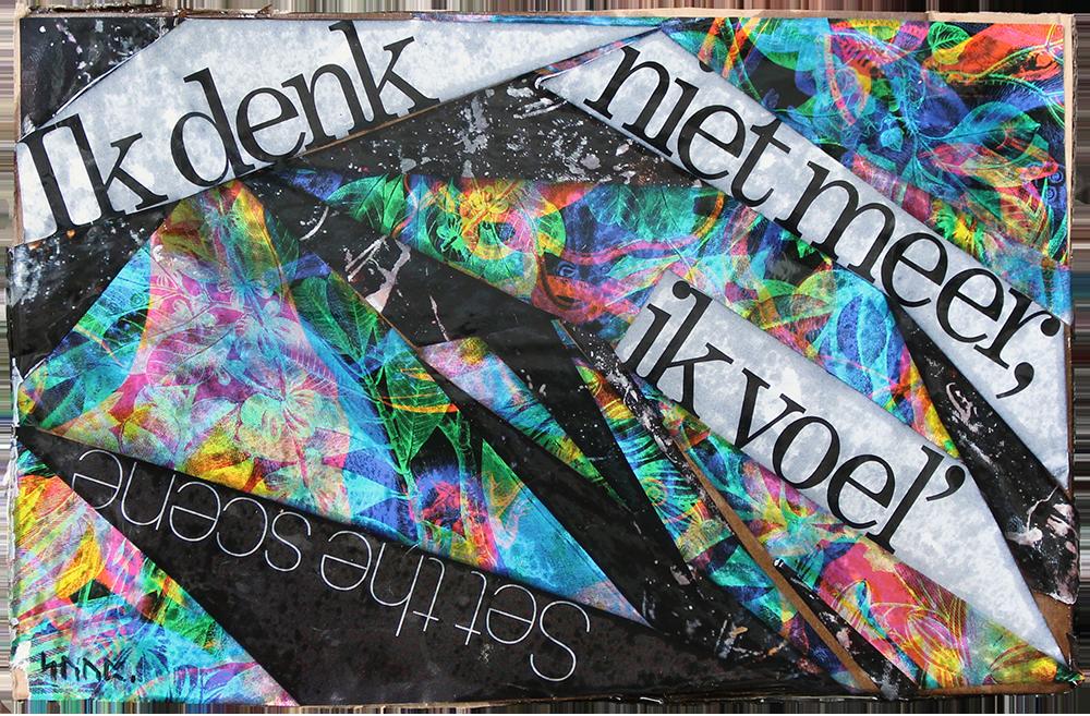 collage art suzanne dirne studio allegonda Amsterdam