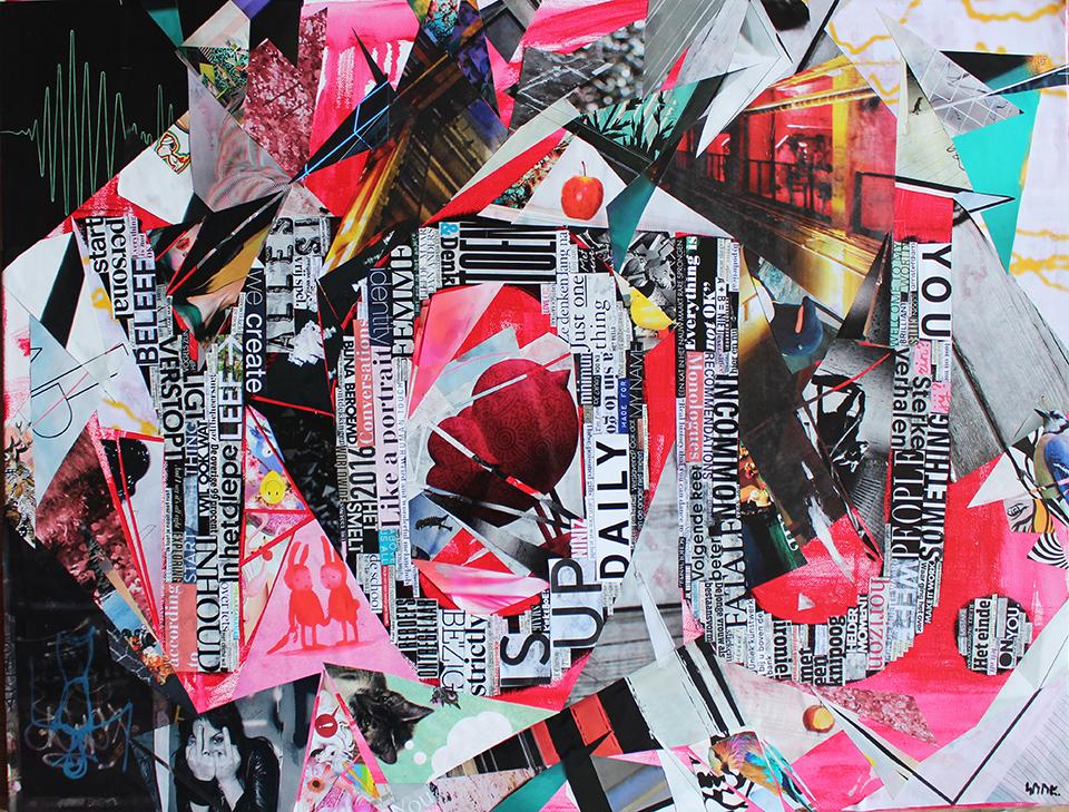 Collage Art Suzanne Dirne Studio Allegonda