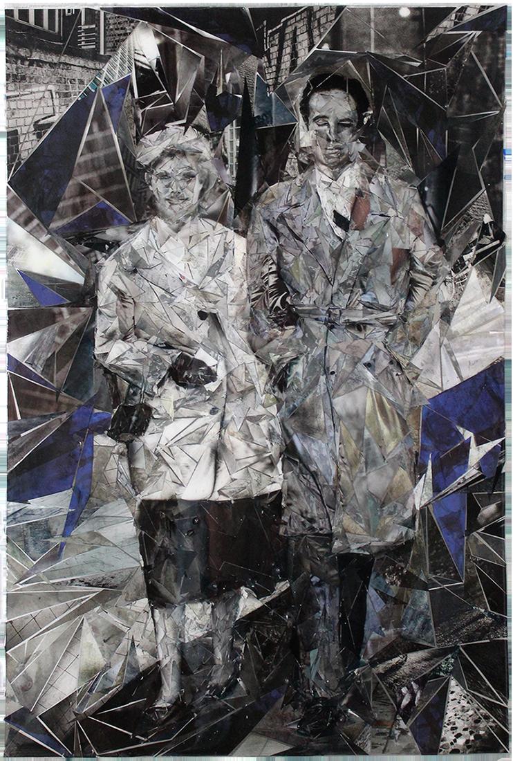 collage art epoxy suzanne allegonda contemporary art Amsterdam